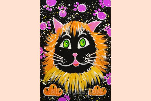 котик мур-мур. рисунок