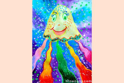 рисунок. медуза