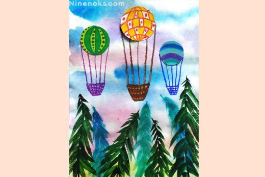 рисунок. 3 воздушных шара. 5+