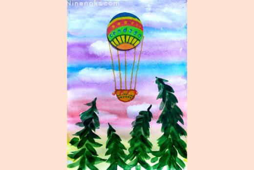 рисунок. воздушный шар