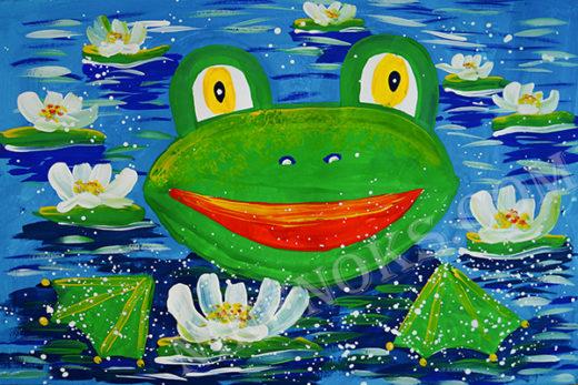 лягушка. рисунок 7+