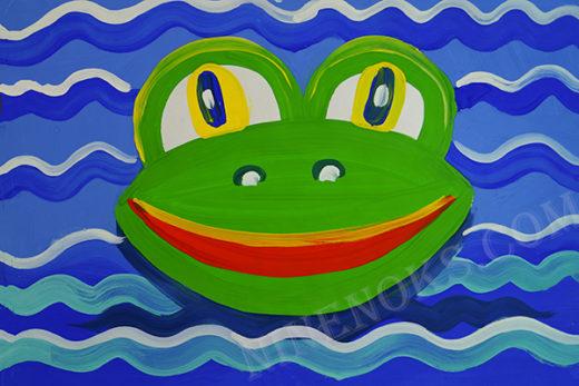 лягушка. рисунок. 3+