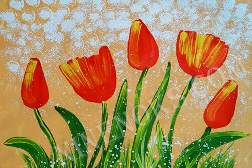 тюльпаны. рисунок 5+