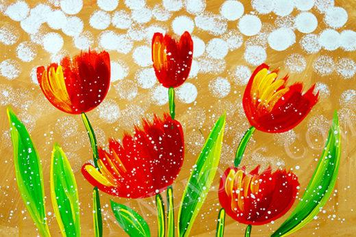 тюльпаны. рисунок