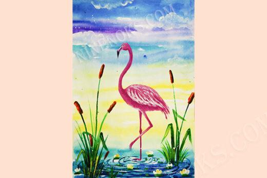 фламинго. рисунок