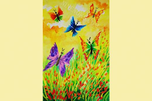 Бабочки. рисунок. 5+