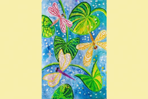 стрекозы. рисунок. 5+
