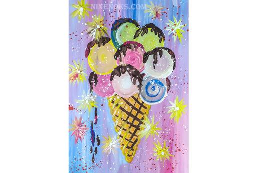 мороженое. гуашь.5+. рисунок