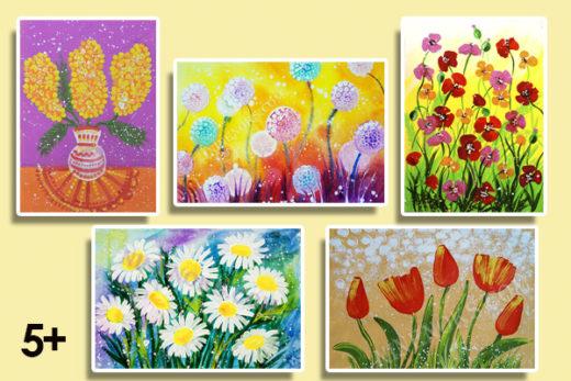 цветы 5+. курс рисования