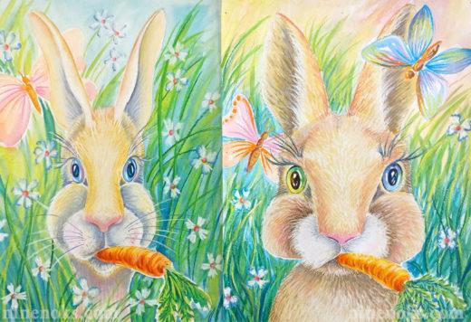 Кролик. Уроки рисования Найннокс