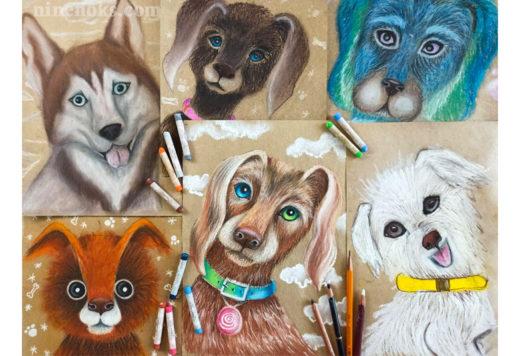 Собака. Уроки рисования Найннокс